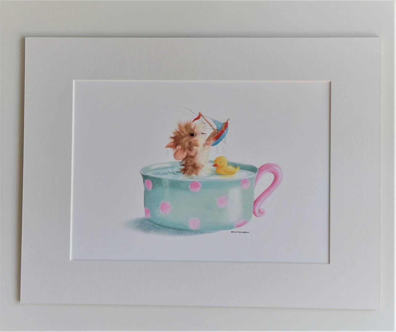 Tiffy Mouse Teacup Bath by Tina Macnaughton.