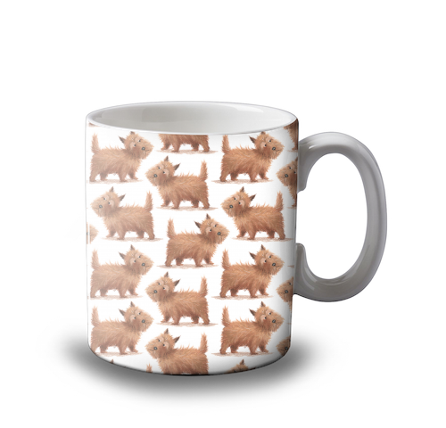 Cairn Terrier - Scottish Dog - Mug design by Tina Macnaughton.
