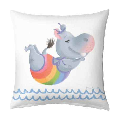 Little Rainbow Hippo Happiness Makes a Splash