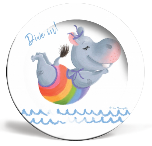 Little Rainbow Hippo Happiness Makes a Splash by Tina Macnaughton.
