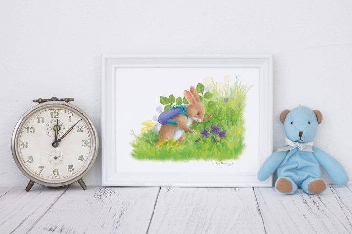 Rabbit finds Sweet Violets.