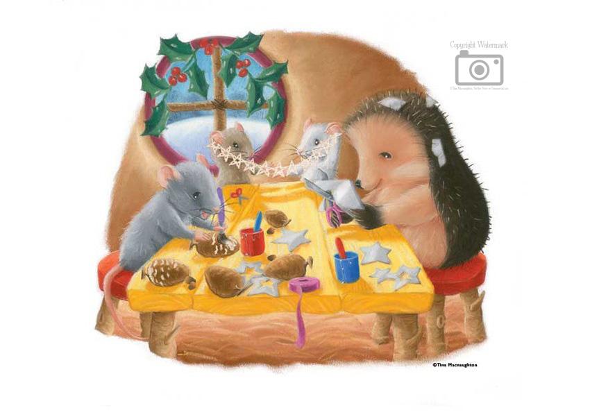 One Christmas Night Page 14 Vignette by Tina Macnaughton.