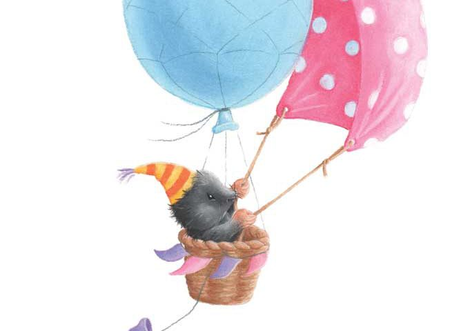 Mole in Balloon Boat by Tina Macnaughton.