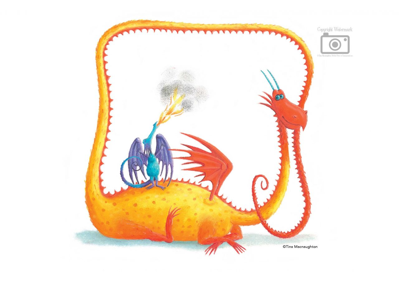 Little Blue and Yellow Dragon by Tina Macnaughton.